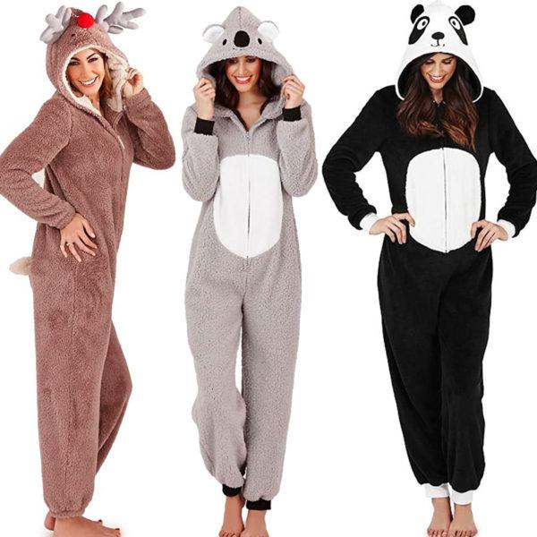 Frauen-Jumpsuit - Koala, Panda und Rentier