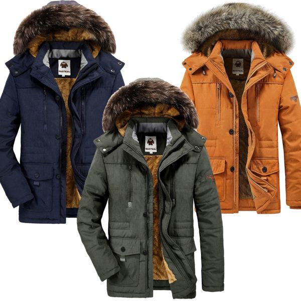 Warmer Winterparka mit Kapuze für Herren