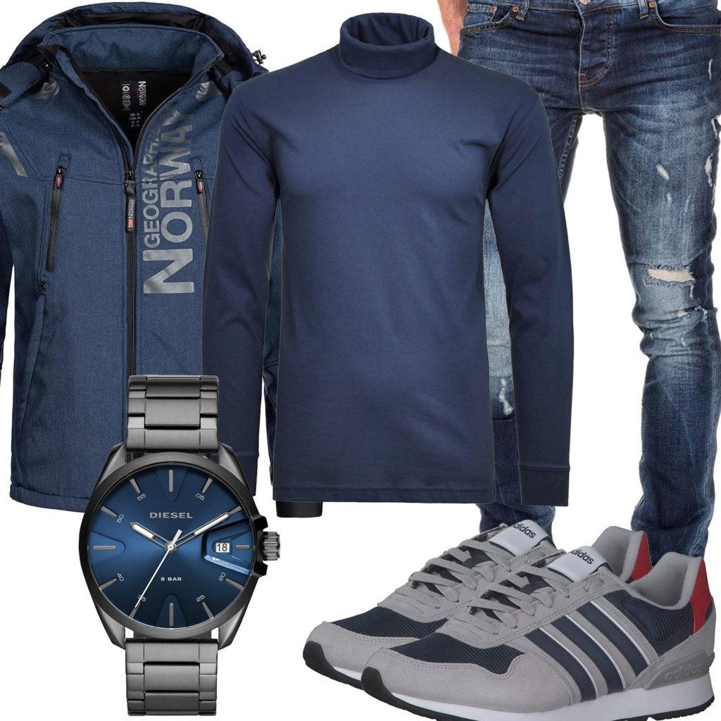 Herren-Style in Navyblau und Grau 2021