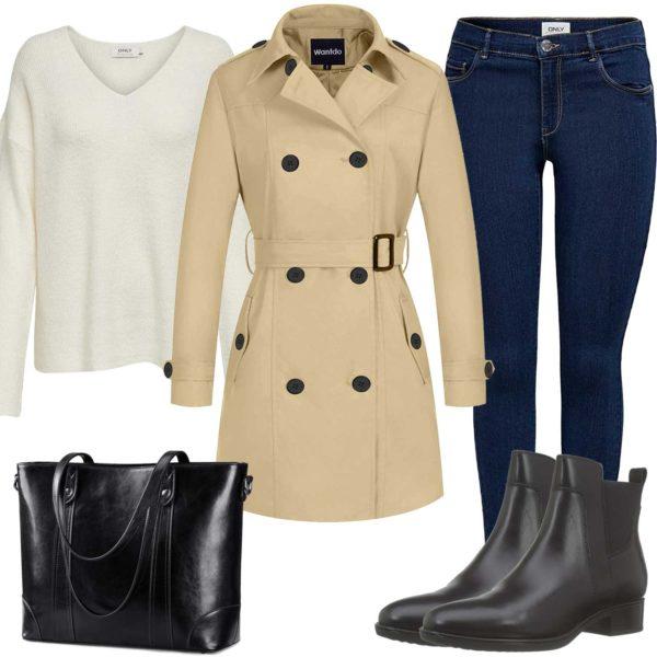 Herbst-Style für Damen mit Trenchcoat